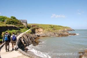 Walking to Cwm on the Coastal Path