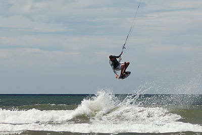 Kitesurfing and Windsurfing are popular sports in Newport Bay